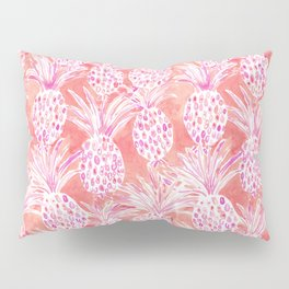 FLESHED OUT Tropical Pink Pineapples Pillow Sham