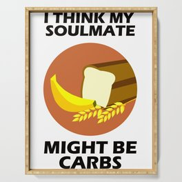 Show your endless infinite love Soulmate T-Shirt Carbs Serving Tray