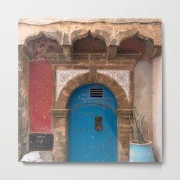 Blue Tile Door No. 73, Morocco Metal Print