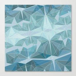 Winter geometric style - minimalist Canvas Print