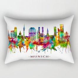 Munich Germany Skyline Rectangular Pillow