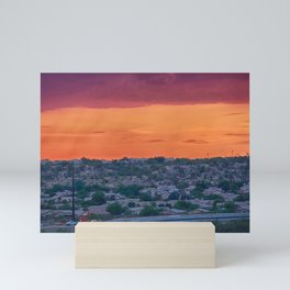 Sunset Construction Mini Art Print