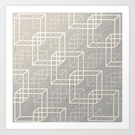 Linked Squares Art Print