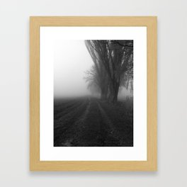 Parallel Paths Framed Art Print
