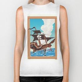 Pirate Ship Biker Tank