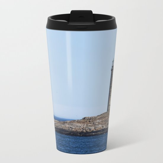 North Lighthouse Tower Thacher Island Metal Travel Mug