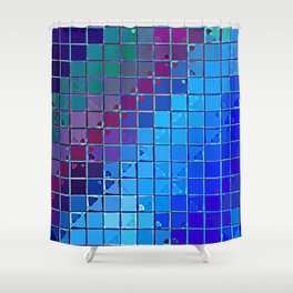 Re-Created Fired Clay 6 by Robert S. Lee Shower Curtain
