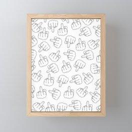 Middle Fingers Pattern 1 Framed Mini Art Print