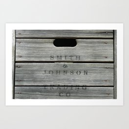 Old wooden box from overseas Art Print