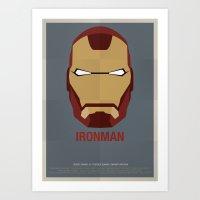 ironman Art Prints featuring IRONMAN by Alejandro de Antonio Fernández