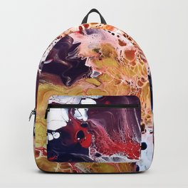 Galactical Starburst - Abstract - Fluid Art Backpack