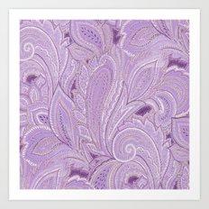 paisley purple Art Print