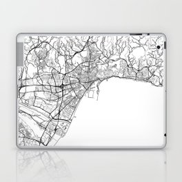 Malaga Map White Laptop & iPad Skin