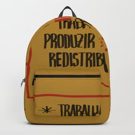 Sign for working class - Portuguese version. Backpack
