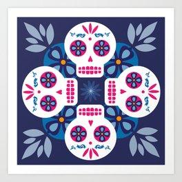 Talavera Blue Art Print