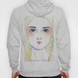 Female portrait inspired by Mother of Dragons medieval character Hoody
