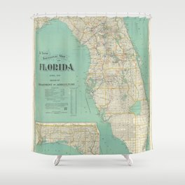 Vintage Florida Map (1916) Shower Curtain