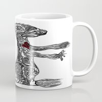 greg guillemin Mugs featuring Squirrel by Greg Phillips by SquirrelSix