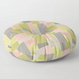 Seedlings - Gray / Rose / Green Floor Pillow
