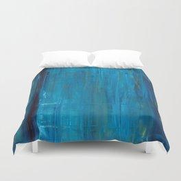 blue vertical Duvet Cover
