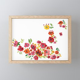 the daily creative project: romantic flowers Framed Mini Art Print