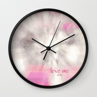 xoxo Wall Clocks featuring xoxo by inourgardentoo