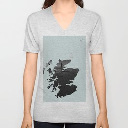 'Wandering' Scotland map Unisex V-Neck