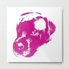 English Mastiff Pop Art Metal Print