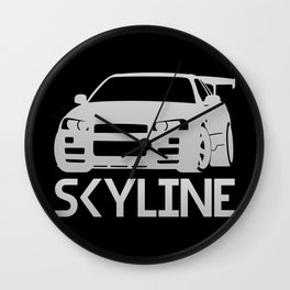 Nissan Skyline GT-R - silver - Wall Clock