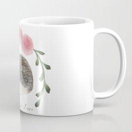 Faith, Hope, and Love Hedgehog Coffee Mug