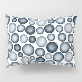 Dark Blue & Light Blue Gradient Circle Pebble Pairs To 2020 Color of the Year Chinese Porcelain Pillow Sham