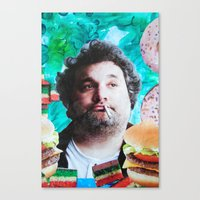 jessica lange Canvas Prints featuring Artie Lange by John Turck