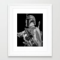 boba fett Framed Art Prints featuring Boba Fett by Artness!