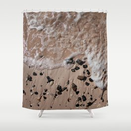 Sand, Rocks, Waves Shower Curtain