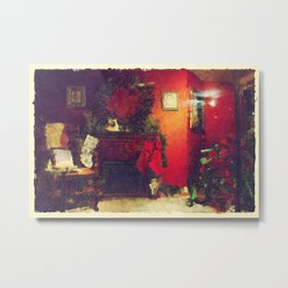 By The Chimney With Care Metal Print