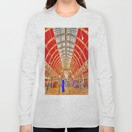 Paddington Railway Station Pop Art Long Sleeve T-shirt