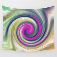 circle Wall Tapestries featuring  circle by Karl-Heinz Lüpke
