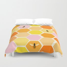 Busy As A Bee In A Hive Duvet Cover