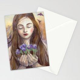 Pasqueflower Stationery Cards