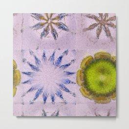 Minimizer Fabric Flowers  ID:16165-003908-98470 Metal Print