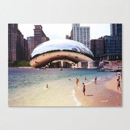 Chicago vs. Dubrovnik Canvas Print