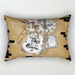 Time is an IIlusion Rectangular Pillow