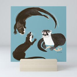 Asiatic and African clawless otter Mini Art Print