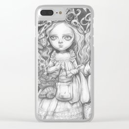 Freya and Faye, the moth collectors Clear iPhone Case