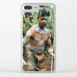 Papua New Guinea Villager Clear iPhone Case