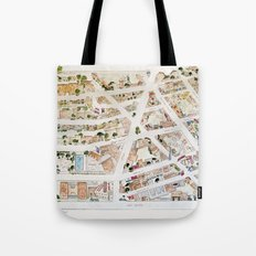 Greenwich Village Map by Harlem Sketches Tote Bag
