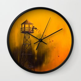 Autumn Tower Wall Clock