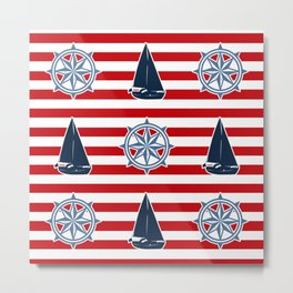 Nautical design Metal Print