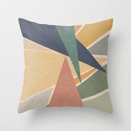 Geometric Triangles Throw Pillow