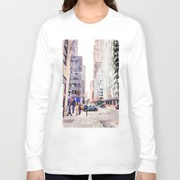 nyc Long Sleeve T-shirts featuring NYC by Christine Workman